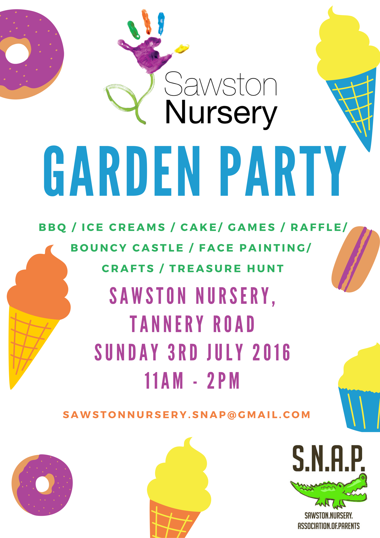 Sawston nursery garden party 3rd July 2016